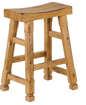 "BARSTOOL SEDONA 24"" SADDLE STOOL"
