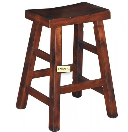 "BARSTOOL SANTA FE 24"" SADDLE STOOL"