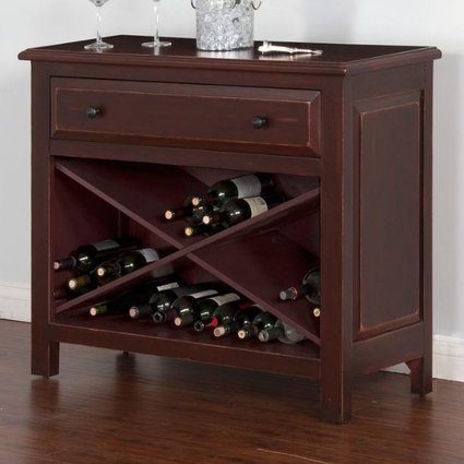 ACCENT WINE STORAGE CABINET WITH ONE DRAWER