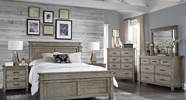 BEDROOM GLACIER POINT QUEEN PANEL BED SOLID RECLAIMED PINE