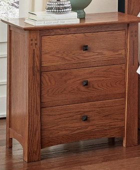 BEDROOM GUILFORD NIGHTSTAND MISSION OAK