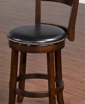 "BARSTOOL CAPPUCCINO 24"" STOOL WITH BACK"