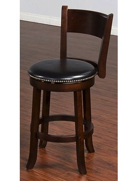 """BARSTOOL CAPPUCCINO 30"""" STOOL WITH BACK"""
