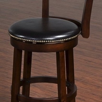 """BARSTOOL CAPPUCCINO 30"""" SWIVEL STOOL WITH BACK"""