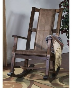 ENTERTAINMENT SAVANNAH ROCKER WITH CUSHION SEAT AND BACK