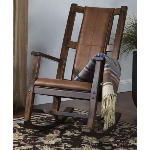 ENTERTAINMENT SANTA FE ROCKER WITH CUSHION SEAT AND BACK
