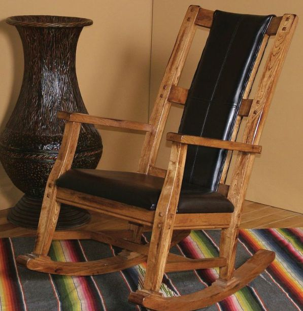 ENTERTAINMENT SEDONA ROCKER WITH BLACK SEAT AND BACK