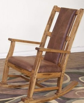 ENTERTAINMENT SEDONA OAK ROCKER WITH CUSHION