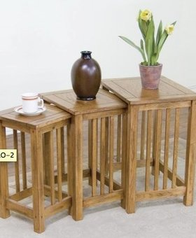 ENTERTAINMENT SEDONA 3PC NESTING TABLES