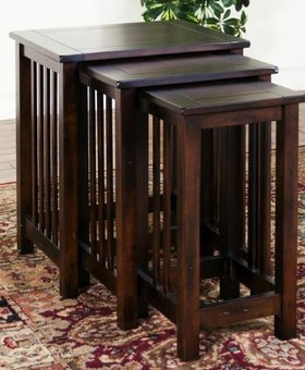 ENTERTAINMENT SANTA FE 3PC NESTING TABLES