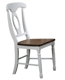 DINING PACIFICA NAPOLEON SIDE CHAIR RUSTIC BROWN AND WHITE FINISH