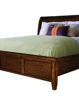 BEDROOM KING SLEIGH BED WITH PANEL LOW PROFILE FOOTBOARD