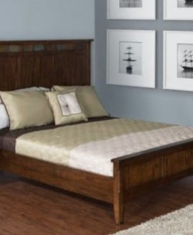 BEDROOM QUEEN SANTA FE BED WITH LOW PROFILE FOOTBOARD