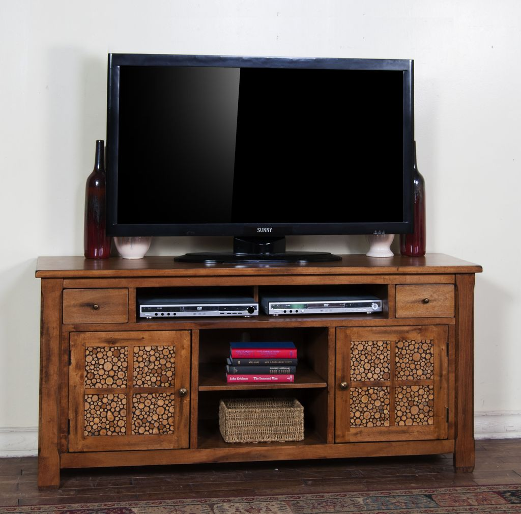"ENTERTAINMENT 64"" SEDONA WOODLAND CONSOLE"