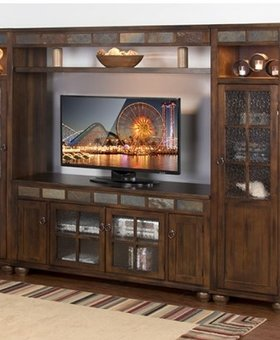 ENTERTAINMENT SANTA FE 4PC ENTERTAINMENT WALL
