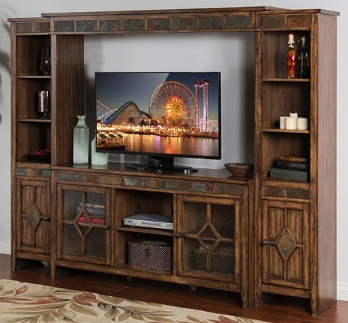 """ENTERTAINMENT COVENTRY ENTERTAINMENT WALL WITH 60"""" CONSOLE"""