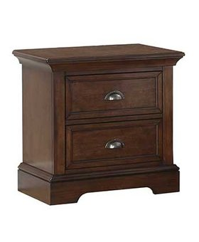 "BEDROOM LAST ONE- TAMARACK 25"" 2 DRAWER NIGHTSTAND HAZELNUT FINISH"