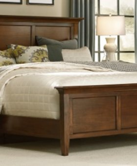 BEDROOM ONLY ONE SOLD AT THIS PRICE-CRACK ON HEADBOARD-WESTLAKE KING PANEL BED