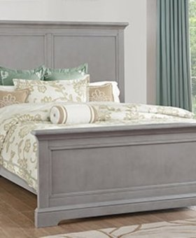 BEDROOM ONLY 2 LEFT AT THIS PRICE!!!   TAMARACK QUEEN PANEL BED GREY FINISH