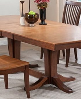 "DINING 96"" DOUBLE PEDESTAL TABLE"