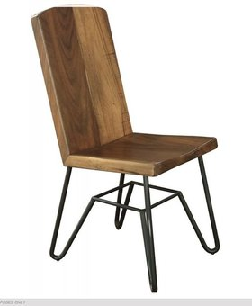 CHAIR TAOS WOOD CHAIR WITH IRON BASE