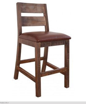 "DINING ANTIQUE MULTICOLOR 24"" BARSTOOL"
