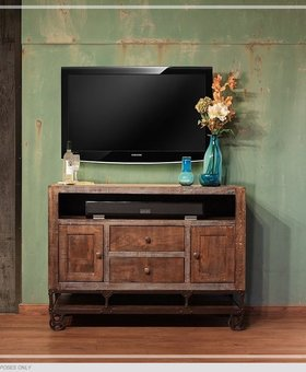 "ENTERTAINMENT 62"" URBAN GOLD TV STAND"