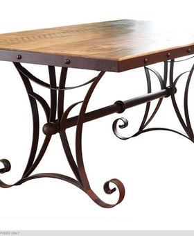 DINING DINING TABLE WITH IRON BASE