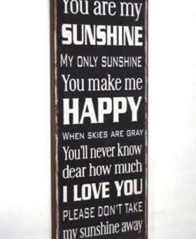 ACCESSORIES 'YOU ARE MY SUNSHINE' METAL SIGN