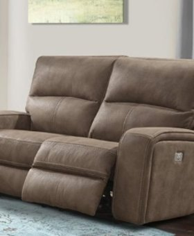 UPHOLSTERED POLARIS DUAL RECLINING POWER LOVESEAT