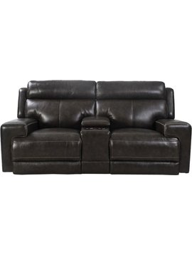 SOFA GLACIER DUAL RECLINING POWER LOVESEAT WITH USB AND POWER HEADREST