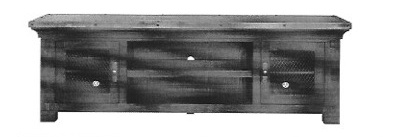 """ENTERTAINMENT 70"""" HATCHER TV CONSOLE AND TWO PIERS"""