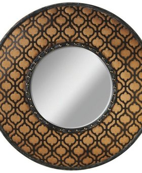 ACCESSORIES BURLAP WALL MIRROR