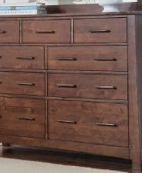BEDROOM SODO DRESSER WHISKEY BROWN FINISH