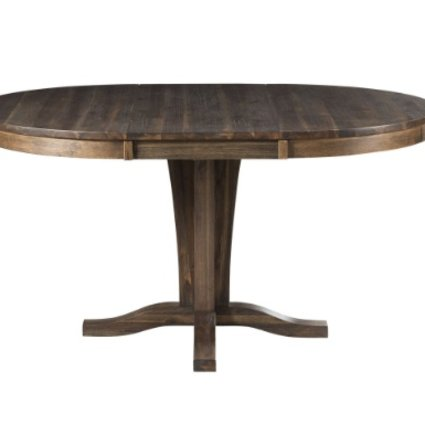 TABLE HURON PEDESTAL DINING TABLE ACACIA WEATHERED RUSSETT FINISH