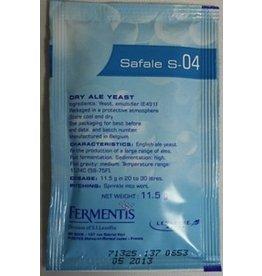 FERMENTIS SAFALE S-04 DRY ALE YEAST 11.5 GRAMS