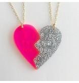 ATSUYO ET AKIKO ATSUYO ET AKIKO Heart necklace (set of 2)