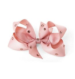 OLILIA Olilia -Medium Bow with Crystals/plaid hair Clips