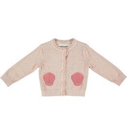 STELLA MCCARTNEY E18 LAUREN BABY GIRL KNIT CARDIGAN W/ SEASHELL POCKETS