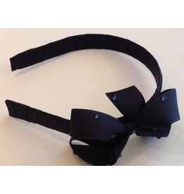 OLILIA Olilia -Medium Bow with Crystals/Pearls/Plaid/satin  Hairband
