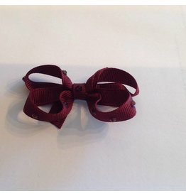 OLILIA Olilia -Small Bow with Crystals/Plaid hairclips