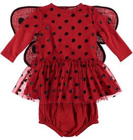 STELLA MCCARTNEY Stella McCartney BABY GIRL LADY BUG TULLE DRESS WITH WINGS