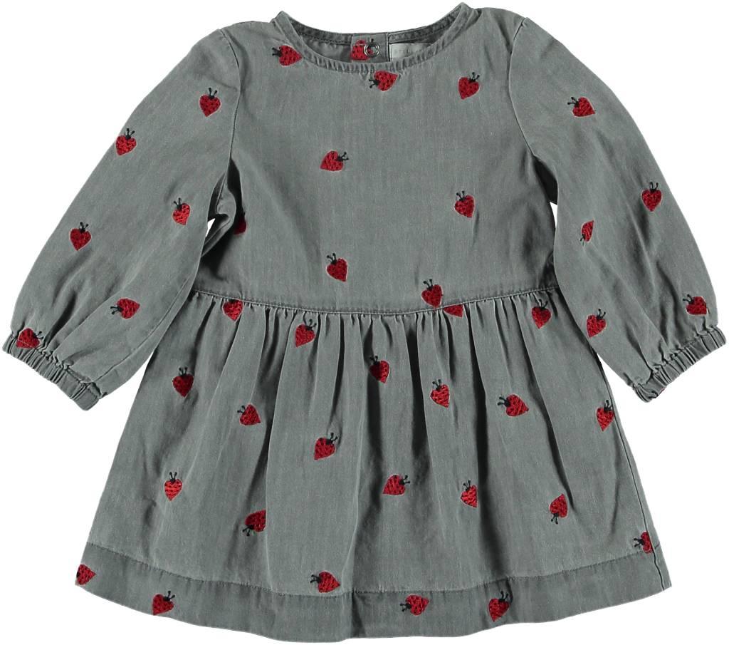 STELLA MCCARTNEY Stella McCartney BABY GIRL LADY BUG DENIM LS DRESS