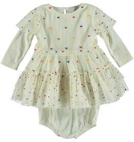 STELLA MCCARTNEY Stella McCartney BABY GIRL TULLE DRESS W/ MULTICOLOUR HEARTS