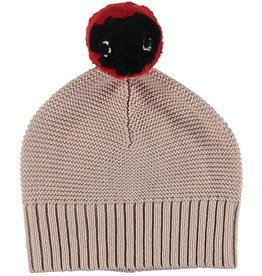 STELLA MCCARTNEY Stella McCartney BABY GIRL KNIT CAP WITH POM