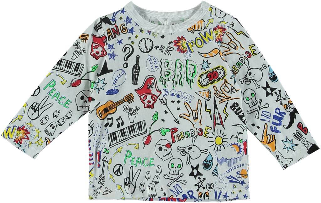 STELLA MCCARTNEY Stella McCartney UNISEX ALL OVER GRAFFITI PRINT TEE