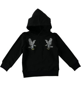 STELLA MCCARTNEY Stella McCartney KID BOY HOODED PULLOVER WITH EAGLE PATCHES