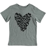STELLA MCCARTNEY Stella McCartney GIRLS SHORT SLEEVE CHEETAH PRINT HEART TEE