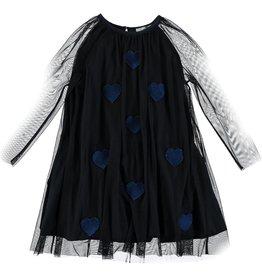 STELLA MCCARTNEY Stella McCartney GIRLS TULLE DRESS WITH HEART PATCHES