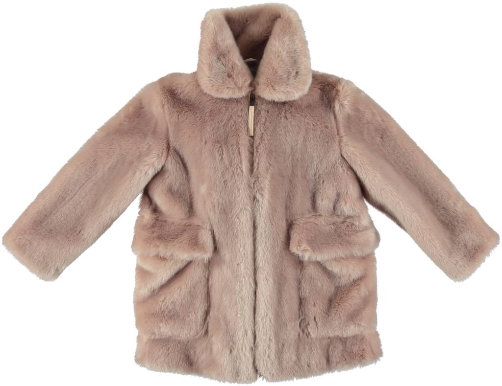 STELLA MCCARTNEY Stella McCartney GIRLS FAUX FUR JACKET WITH BIRD PRINT